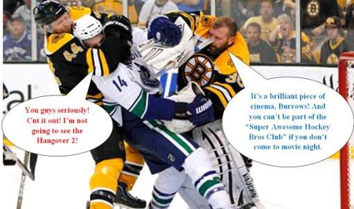 Bruins Canucks fight