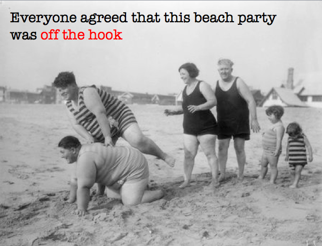 Vintage beach party off the hook